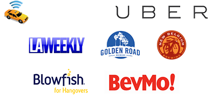 Taxi Magic, Uber, BevMo!, Golden Road Brewing, New Belgium Brewing, Blowfish
